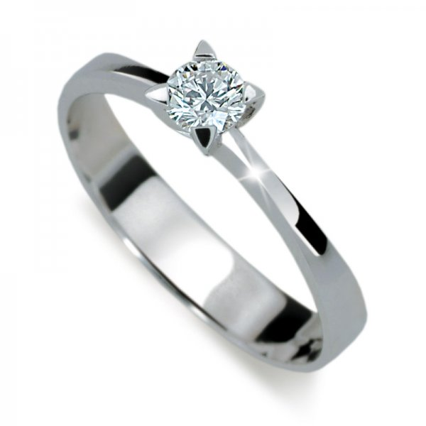 Zásnubní prsten z bílého zlata ZP1895