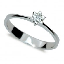 Zásnubní prsten z bílého zlata ZP1953