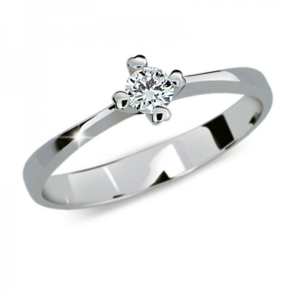 Zásnubní prsten z bílého zlata ZP2089