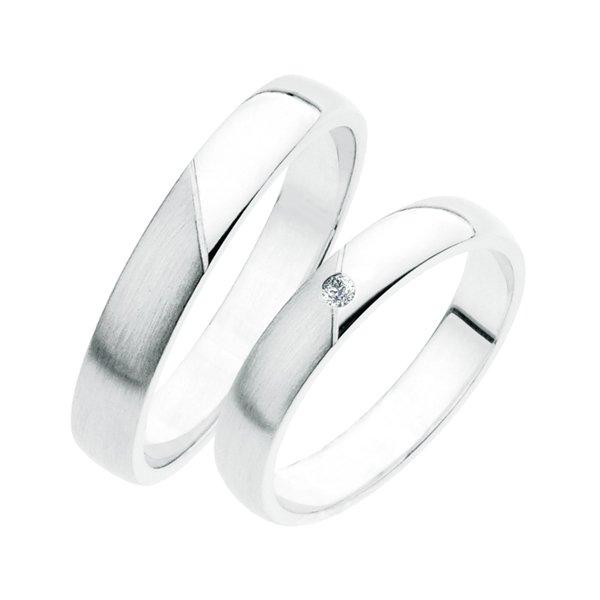 Stříbrné snubní prsteny SP-237-Ag