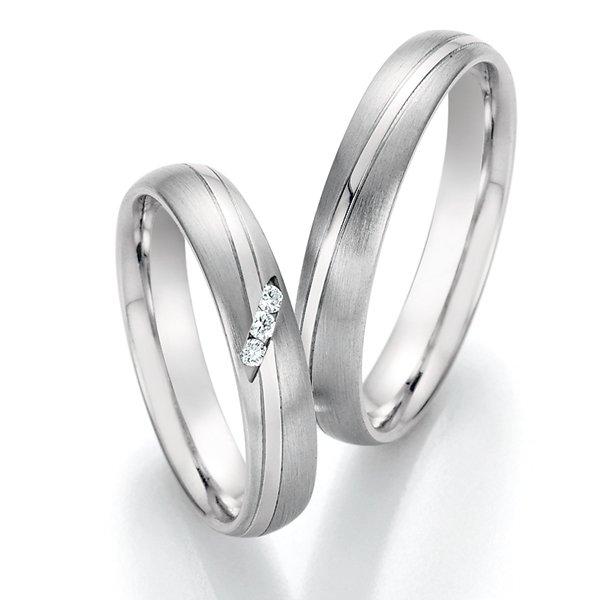 Snubní prsteny z oceli s diamanty SP-22030