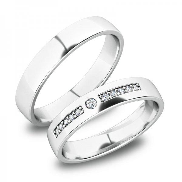 Stříbrné snubní prsteny SP-61084-Ag