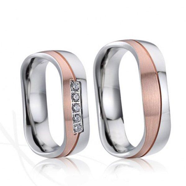 SP-7021 Ocelové snubní prsteny SP-7021