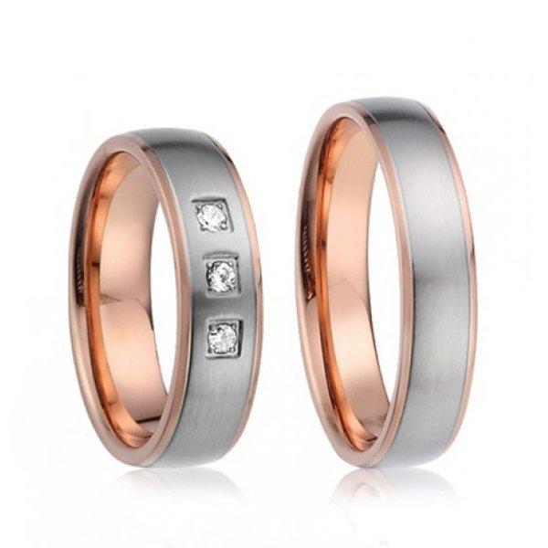 SP-7018 Ocelové snubní prsteny SP-7018