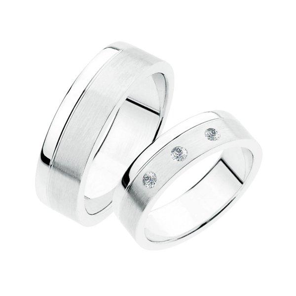 Stříbrné snubní prsteny SP-235-Ag