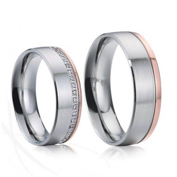 SP-7024 Ocelové snubní prsteny SP-7024