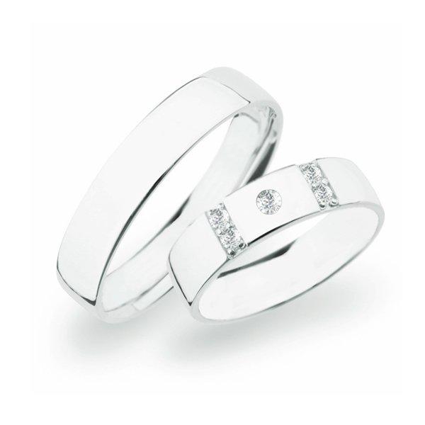 Stříbrné snubní prsteny SP-272-Ag
