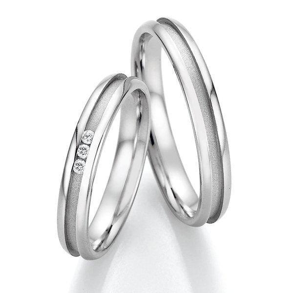 Snubní prsteny z oceli s diamanty SP-22070