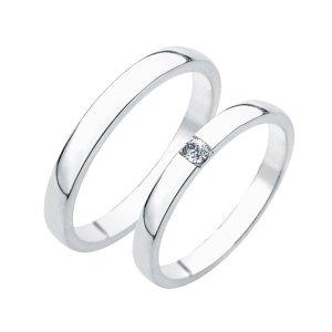 Stříbrné snubní prsteny SP-230-Ag
