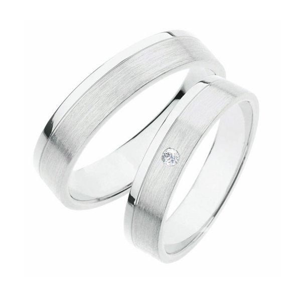 Stříbrné snubní prsteny SP-242-Ag