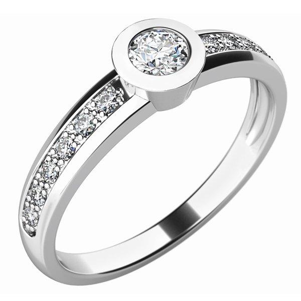 Zásnubní prsten se zirkony ZP-10746