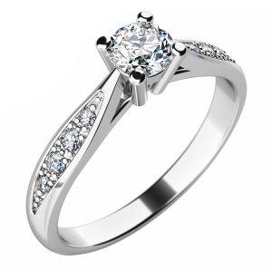 Zásnubní prsten se zirkony ZP-10745