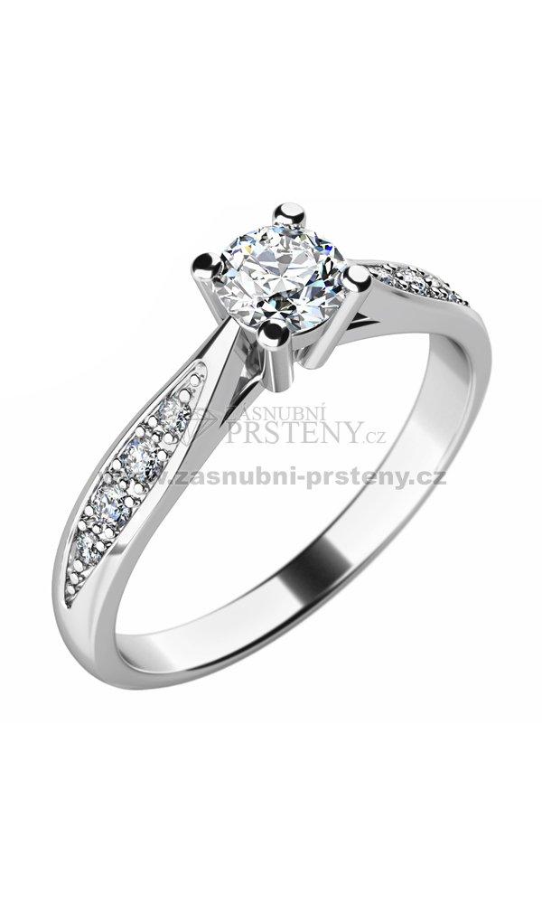 Zasnubni Prsten Se Zirkony Zp 10745 Zasnubni Prsteny Cz