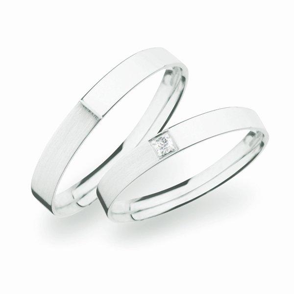 Stříbrné snubní prsteny SP-264-Ag