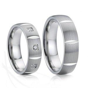 SP-7026 Ocelové snubní prsteny SP-7026