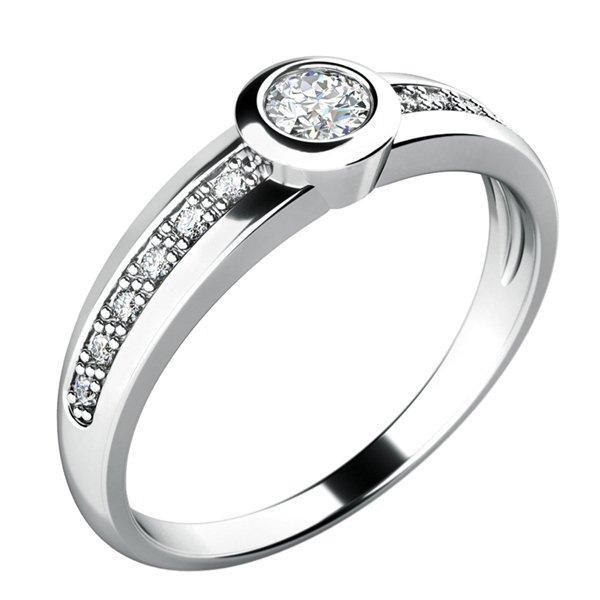 Zásnubní prsten se zirkony ZP-10778
