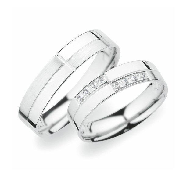 Stříbrné snubní prsteny SP-256-Ag