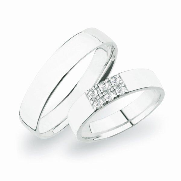 Stříbrné snubní prsteny SP-271-Ag