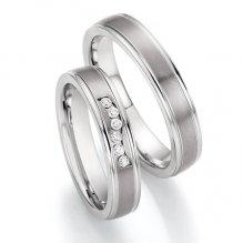 Snubní prsteny ocelové s titanem SP-06130