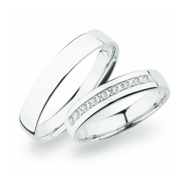 Stříbrné snubní prsteny SP-276-Ag