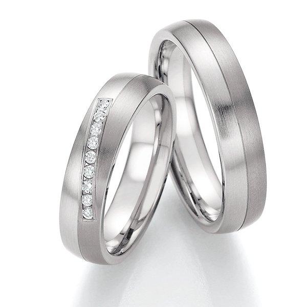 Snubní prsteny ocelové s titanem SP-06110
