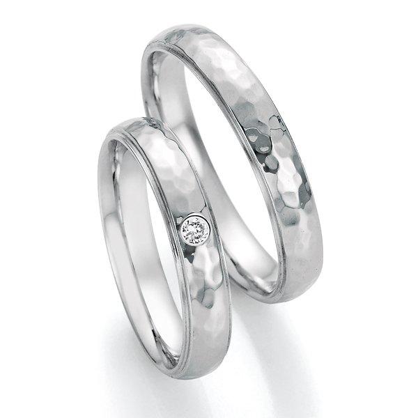 Snubní prsteny z oceli s diamantem SP-22090