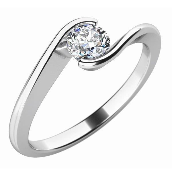 Zásnubní prsten se zirkonem ZP-10743