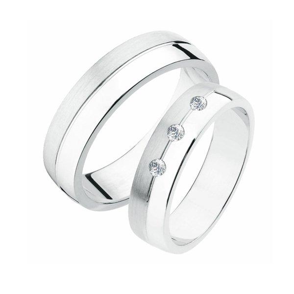 Stříbrné snubní prsteny SP-236-Ag