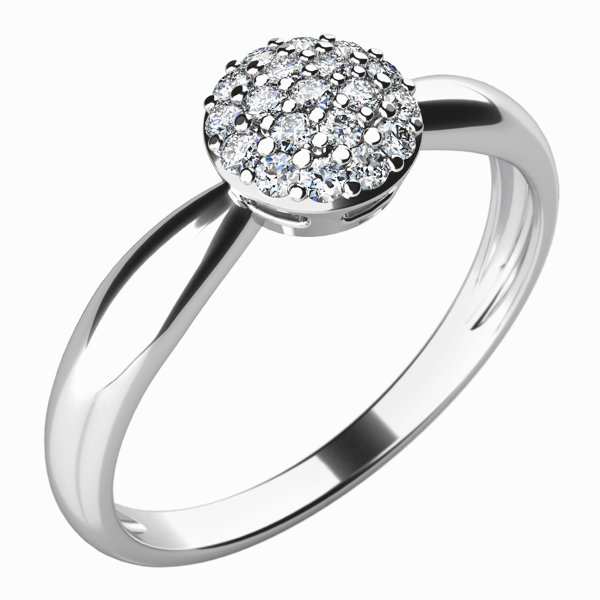 Zásnubní prsten se zirkony ZP-10767