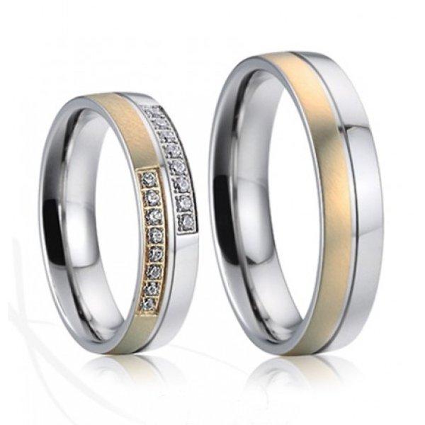 Ocelové snubní prsteny SP-7022
