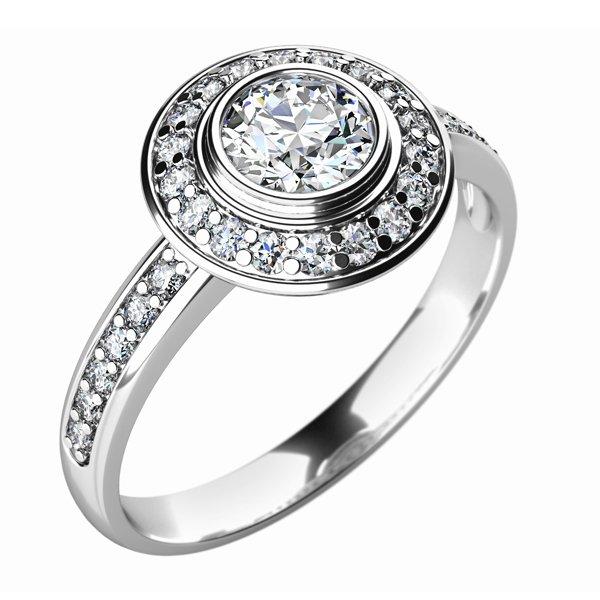 Zásnubní prsten se zirkony ZP-10765