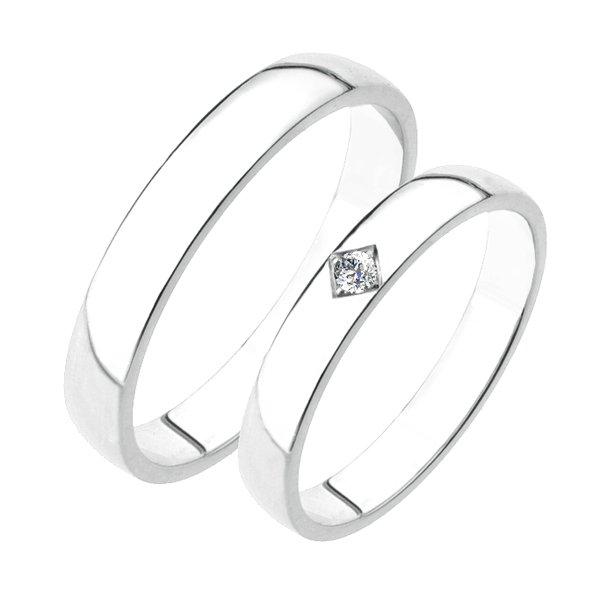 SP-204Ag Stříbrné snubní prsteny SP-204-Ag