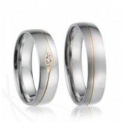 SP-7019 Ocelové snubní prsteny SP-7019