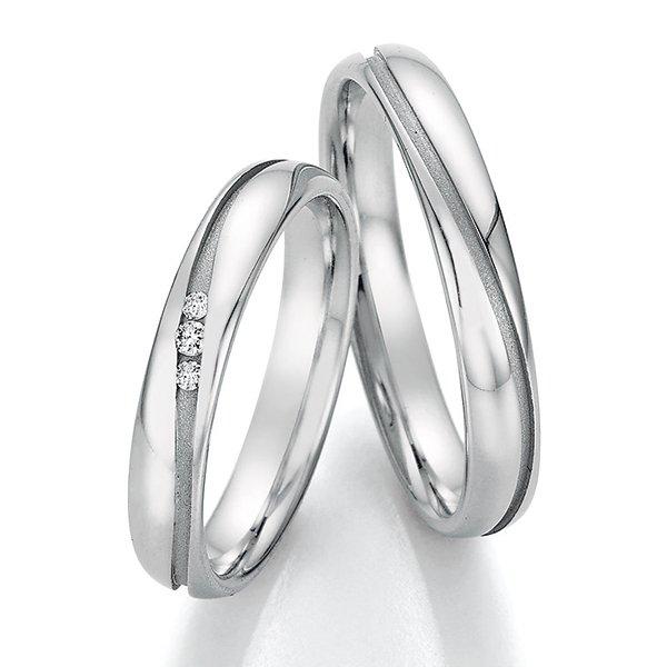 Snubní prsteny z oceli s diamanty SP-22050