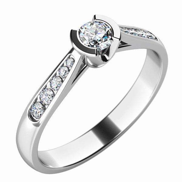 Zásnubní prsten se zirkony ZP-10755