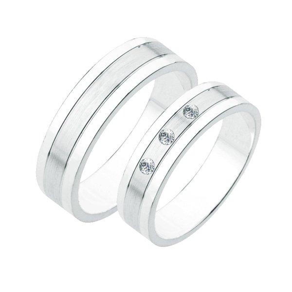 Stříbrné snubní prsteny SP-231-Ag