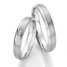 Snubní prsteny z oceli s diamanty SP-22170