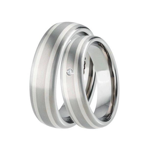 Titanové snubní prsteny TS-88002