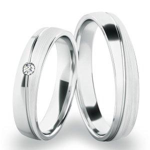 Snubní prsteny z bílého zlata SP-280-B