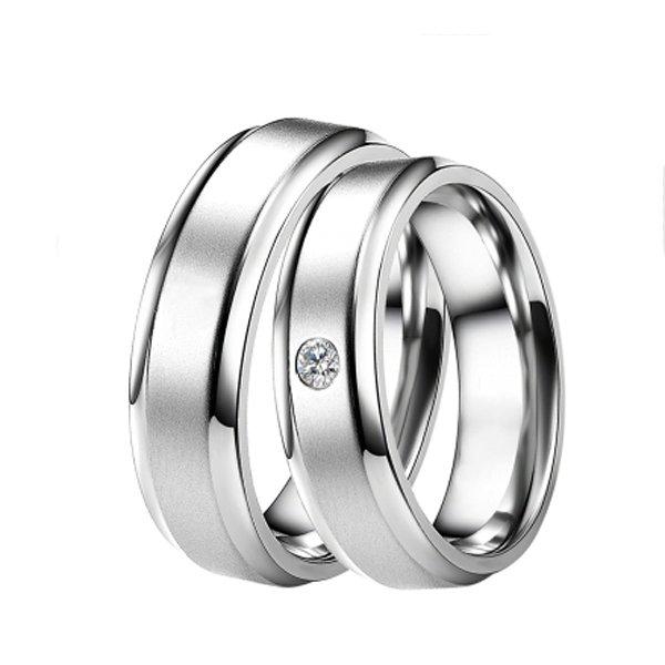 Ocelové snubní prsteny ST-88004