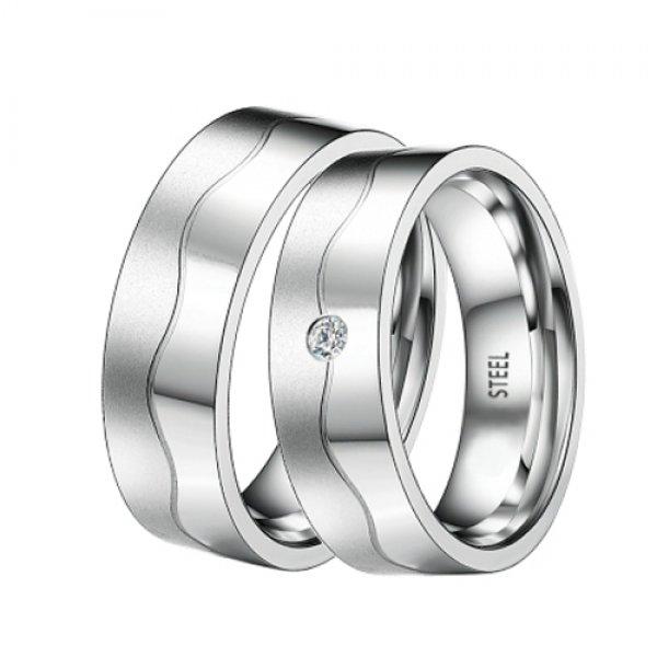 Ocelové snubní prsteny ST-88066