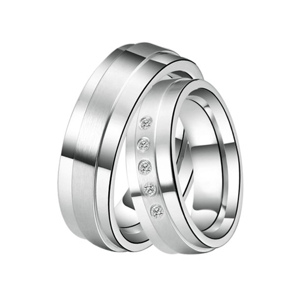 ST-88083 Ocelové snubní prsteny ST-88083