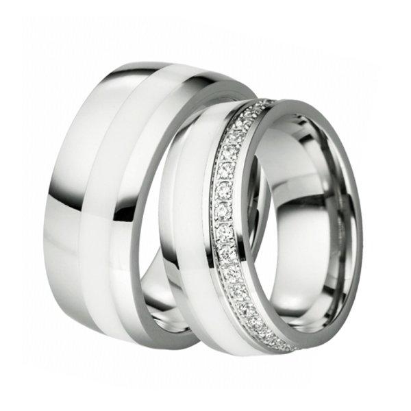 SKW-88098 Ocelové snubní prsteny SKW-88098