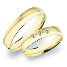 SP-283 Snubní prsteny ze žlutého zlata SP-283