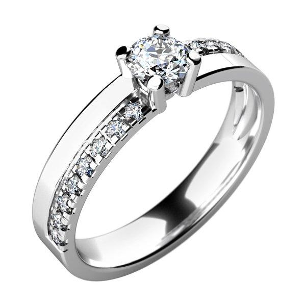 Zásnubní prsten se zirkony ZP-10760