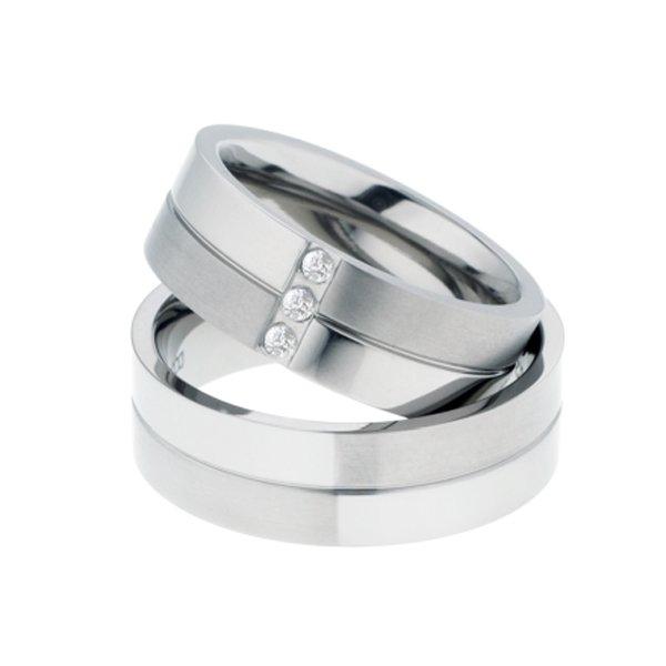 Titanové snubní prsteny TR-88002