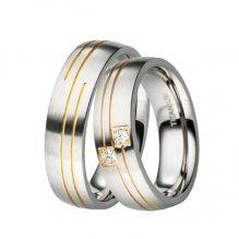 Titanové snubní prsteny TR-88026