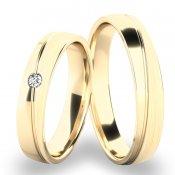 Snubní prsteny ze žlutého zlata SP-280
