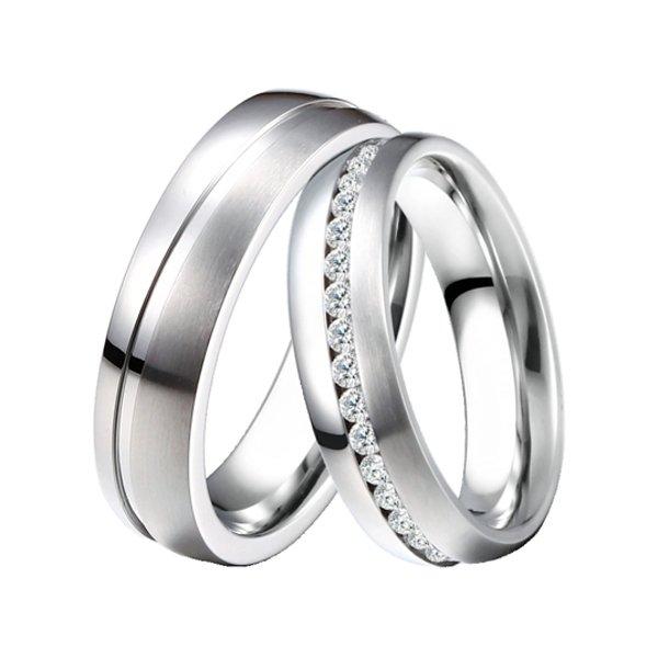 Ocelové snubní prsteny ST-88077