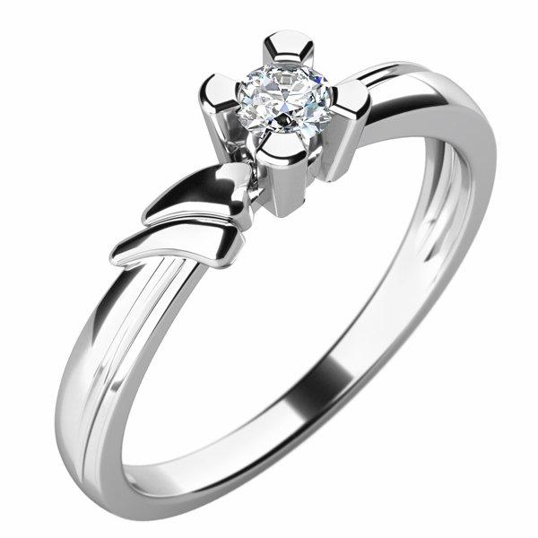 Zásnubní prsten se zirkonem ZP-10754